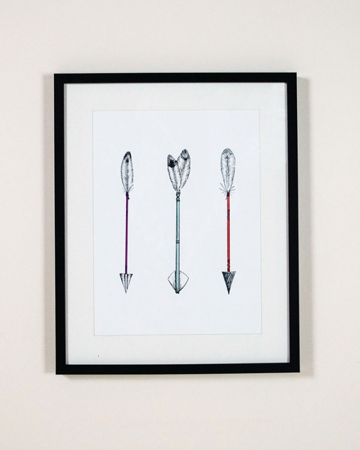 Arrow Trio Wall Art Print