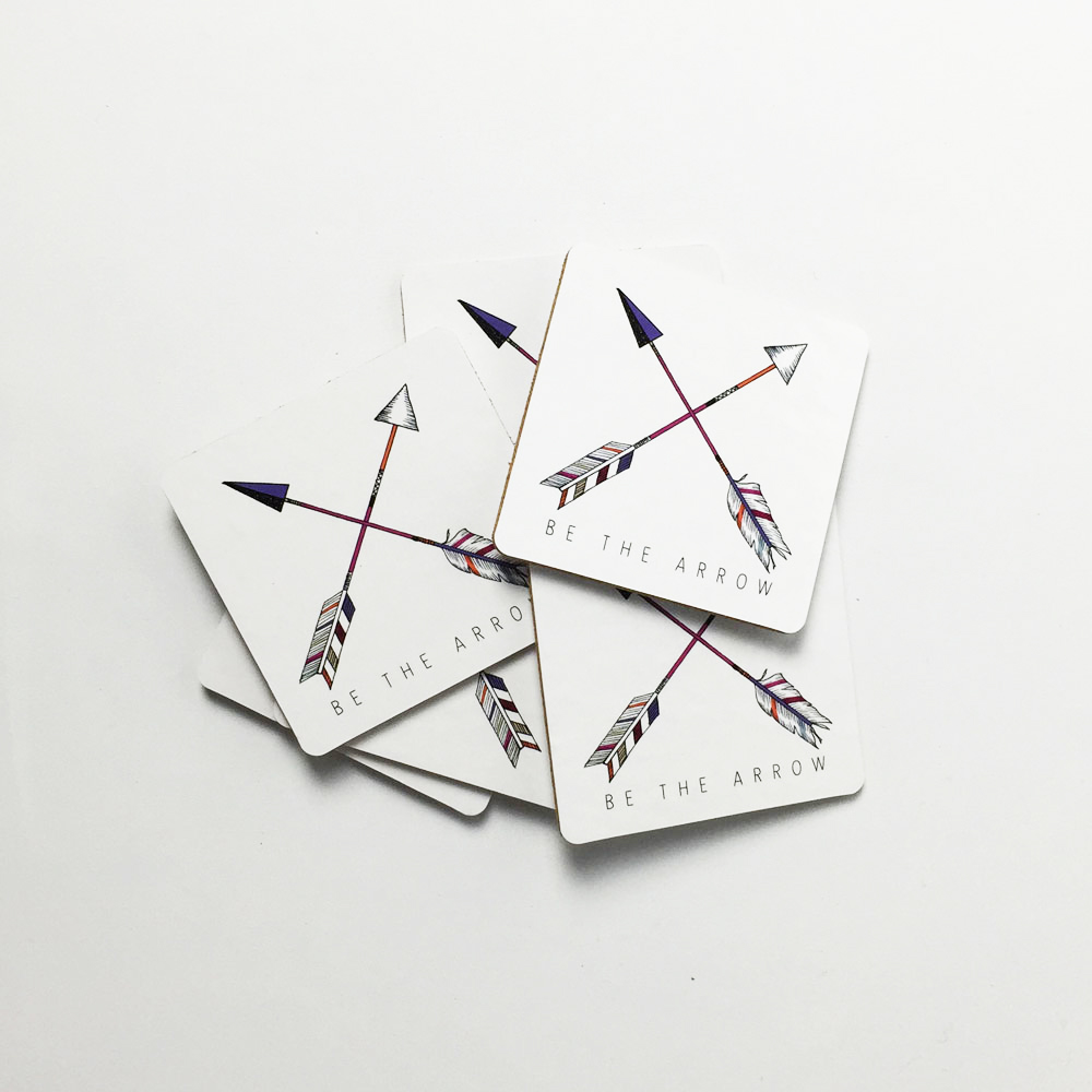 Millie Archer Arrow Cross Coasters