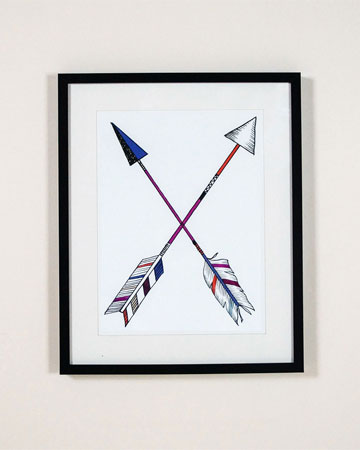 Be The Arrow Cross Print Millie Archer