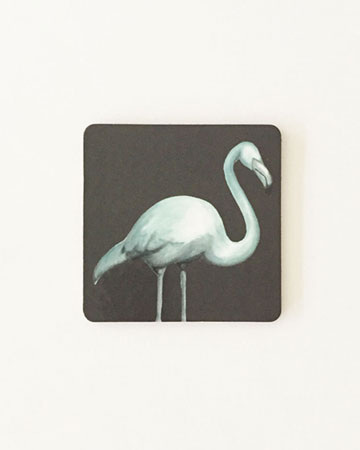 Dark Flamingo Coasters Millie Archer
