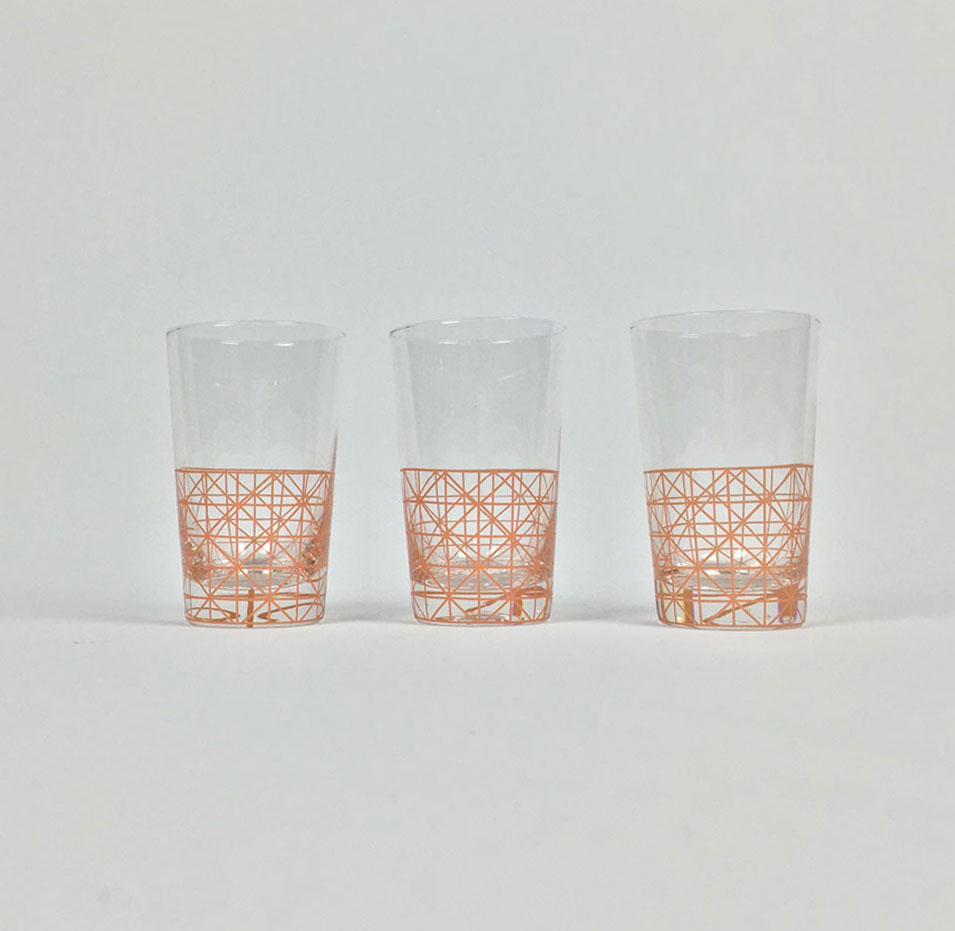 Diamond Lines Drinking Glasses Millie Archer