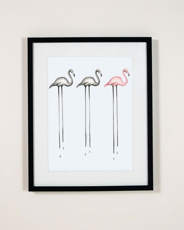 Flamingo Trio Print Millie Archer