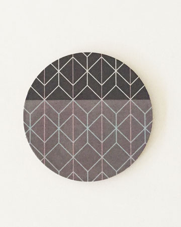 Geometric Print Cork Coasters