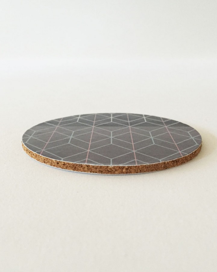 Millie Archer Geometric Print Cork Coasters