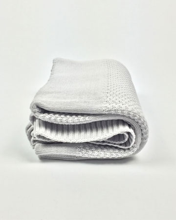 Light Grey Knit Throw Millie Archer