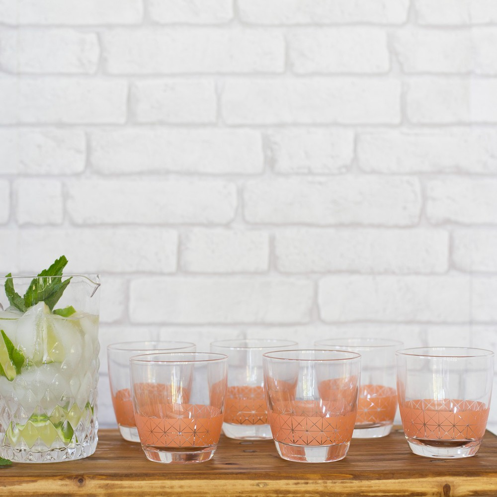 Metallic Peach Drinking Glasses Styling