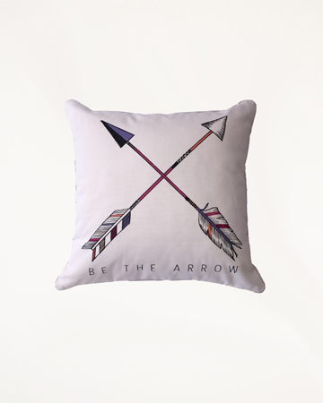be the arrow cross cushion Millie Archer