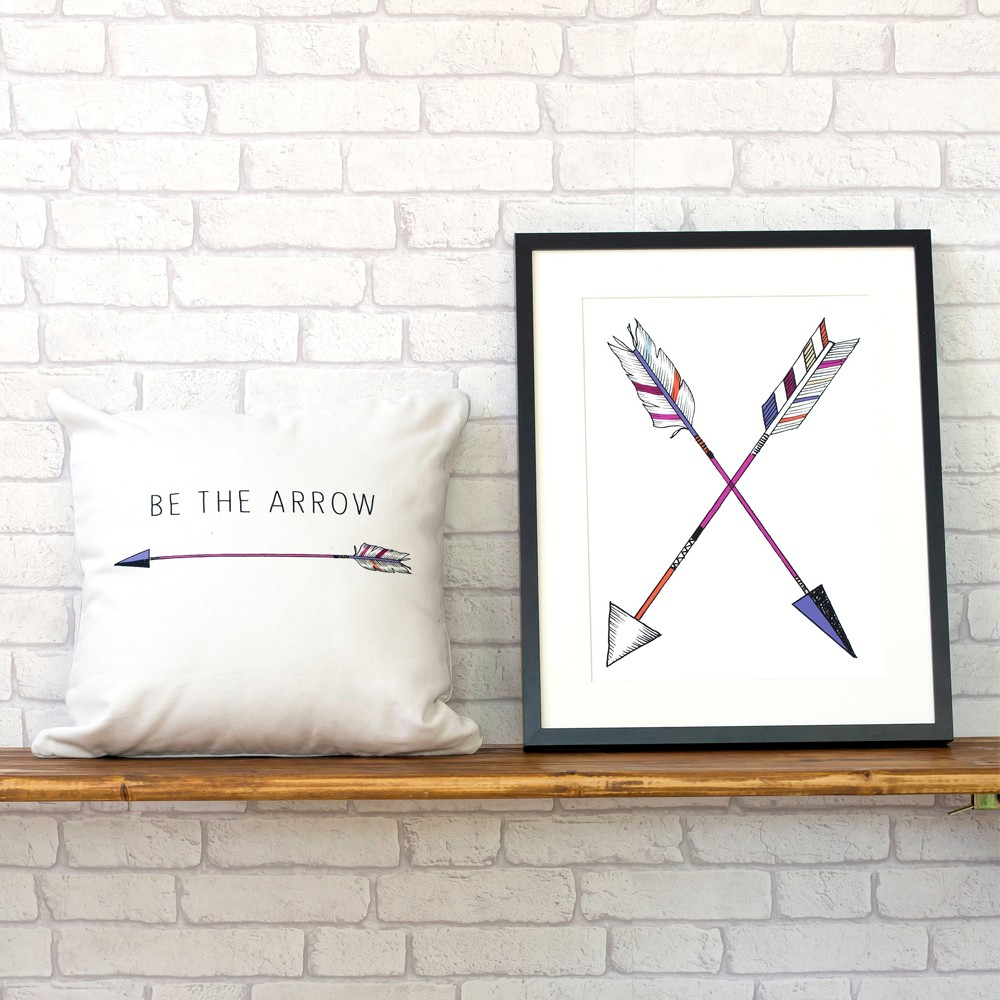 Millie Archer Cross Arrow Wall Art Print Styling 2
