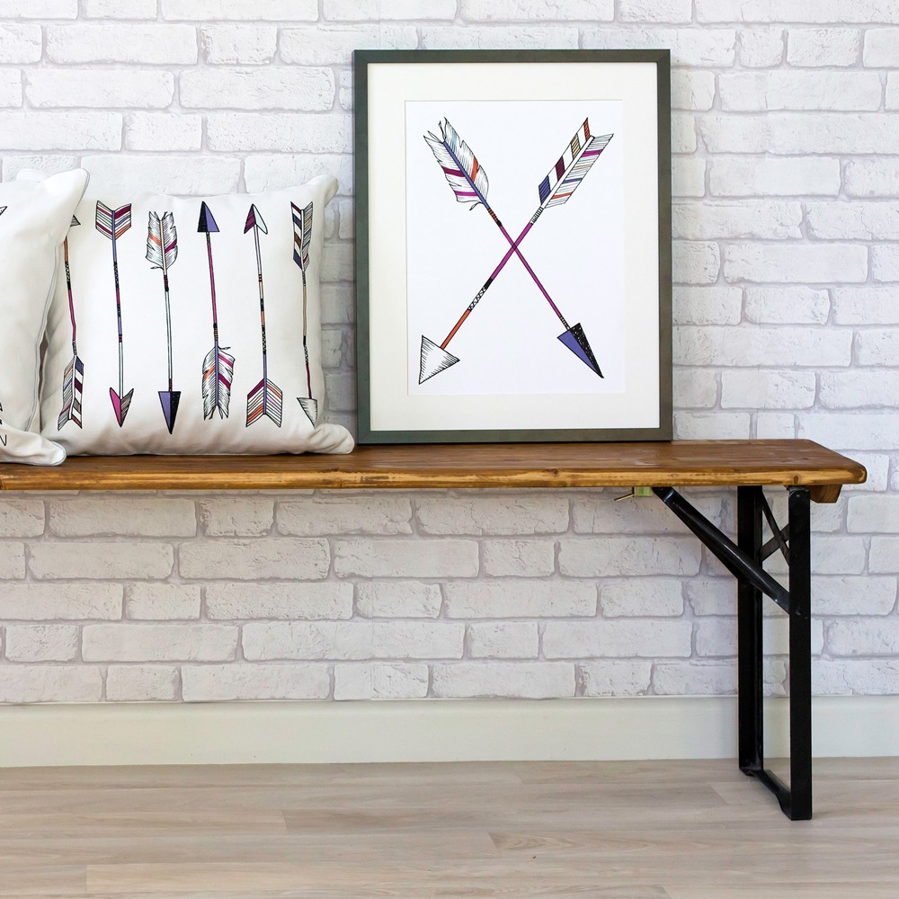 Millie Archer Cross Arrow Wall Art Print Styling