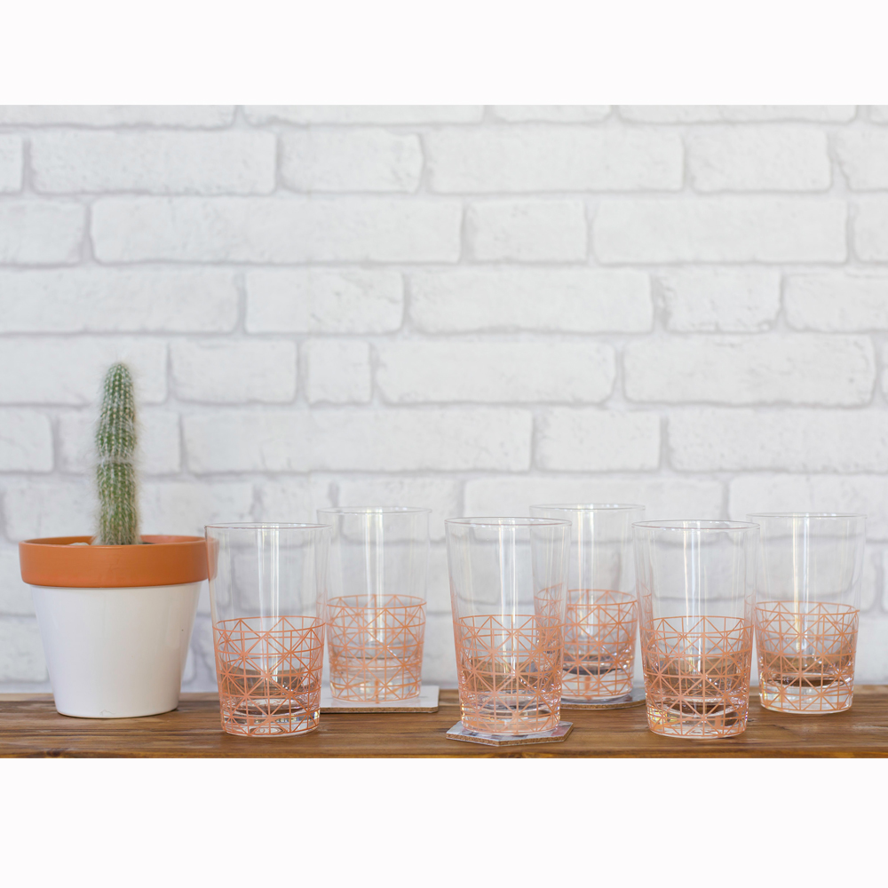 Millie Archer Diamond Lines Drinking Glasses Styling