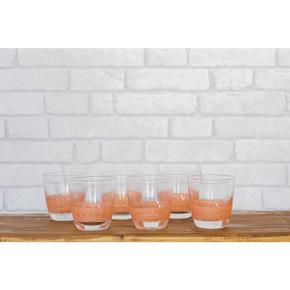 Peach Drinking Glasses Styling 3