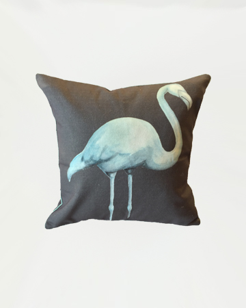 Dark Flamingo Cushion Millie Archer