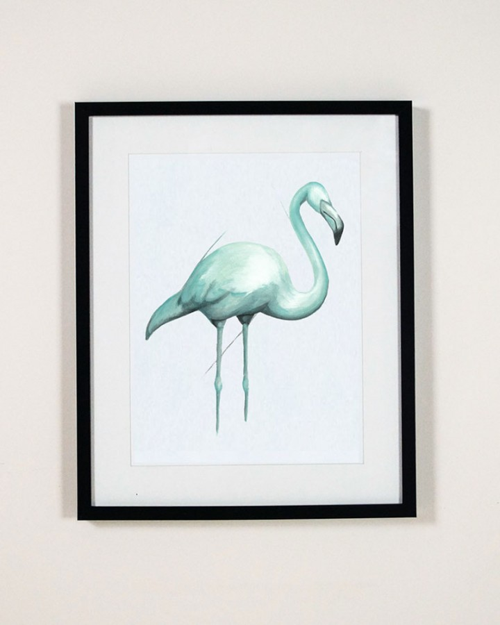 Single Flamingo Print