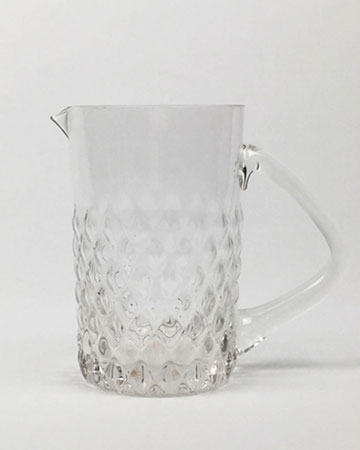 Textured Clear Glass Water Jug Millie Archer