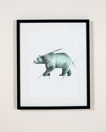 Bear wall Art Print