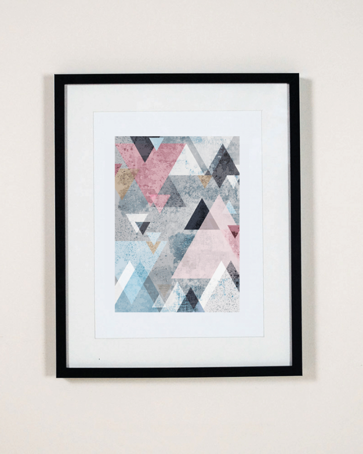 Triangle wall art print