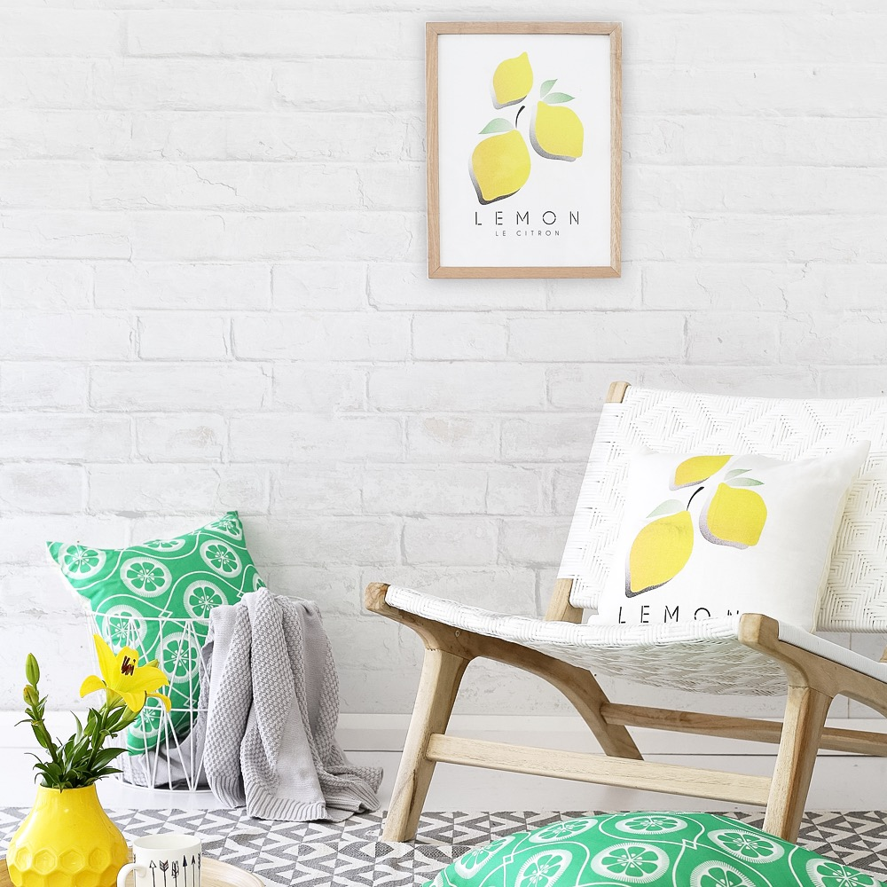 Le Citron Wall Art Print in room