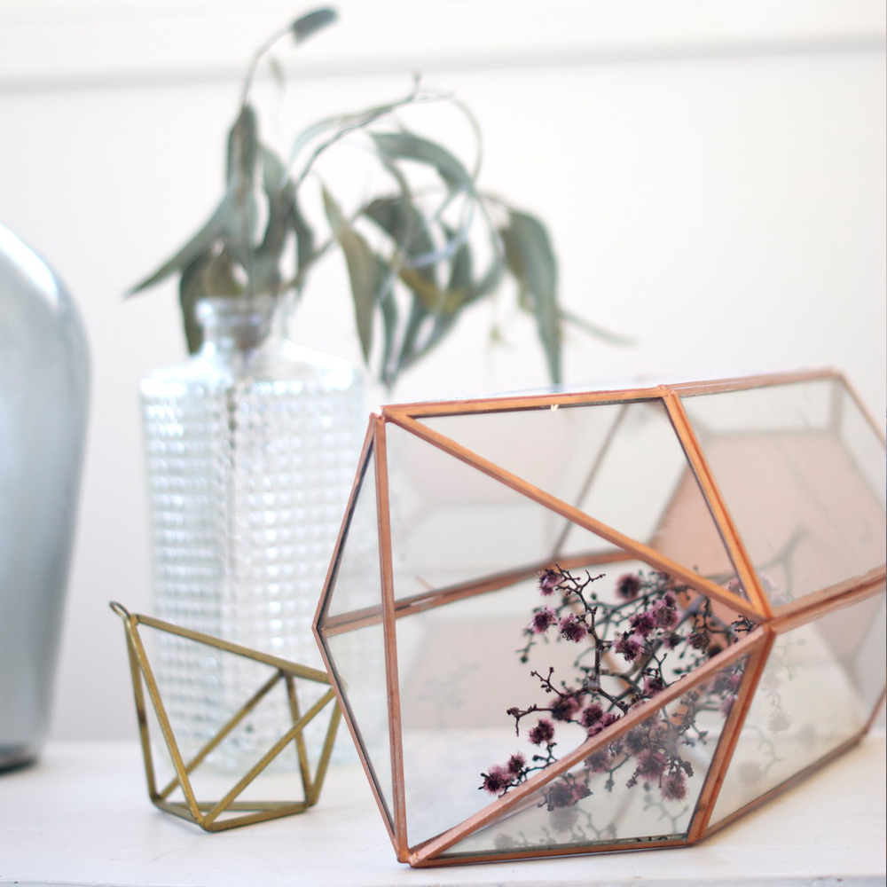 Copper Rectangle Terrarium