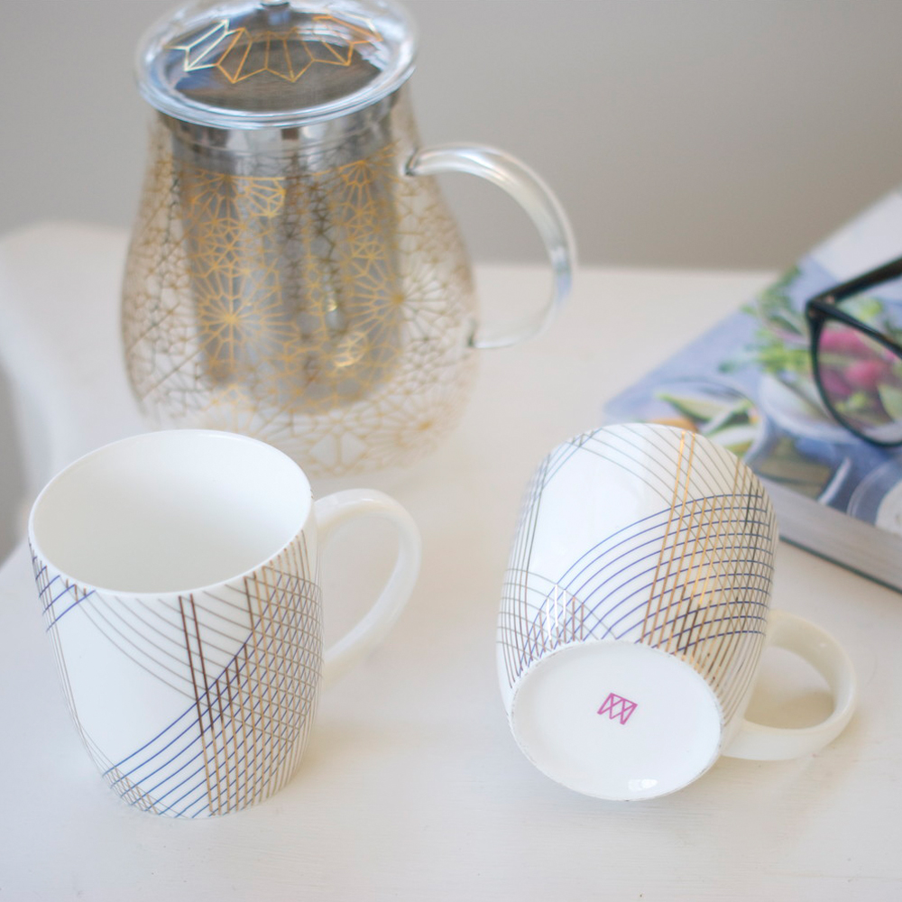 Metallic Lines Mugs