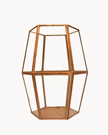 Copper Hexagonal Terrarium Millie Archer Melbourne