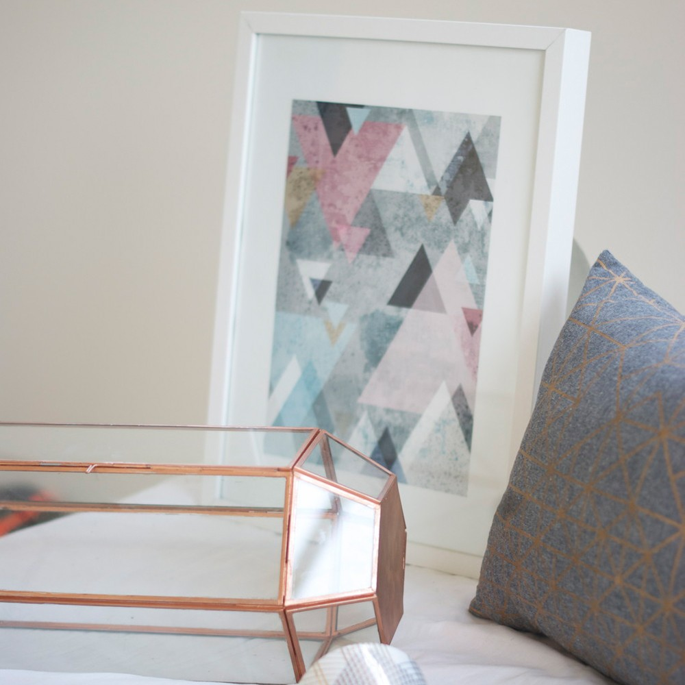 Copper Rectangle Terrarium Triangle Print