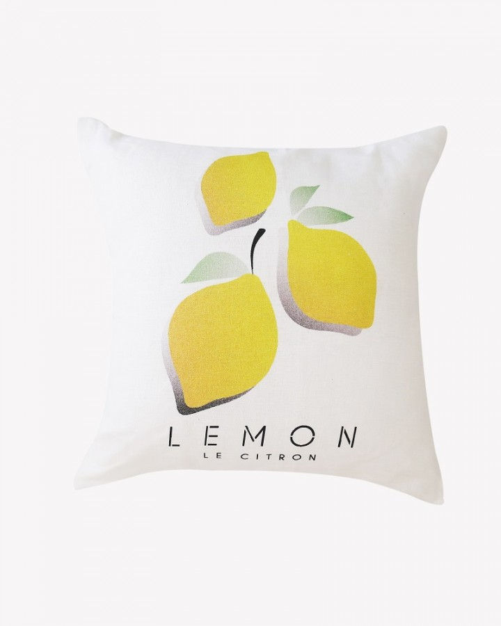Millie Archer Le Citron Citrus Linen Cushion
