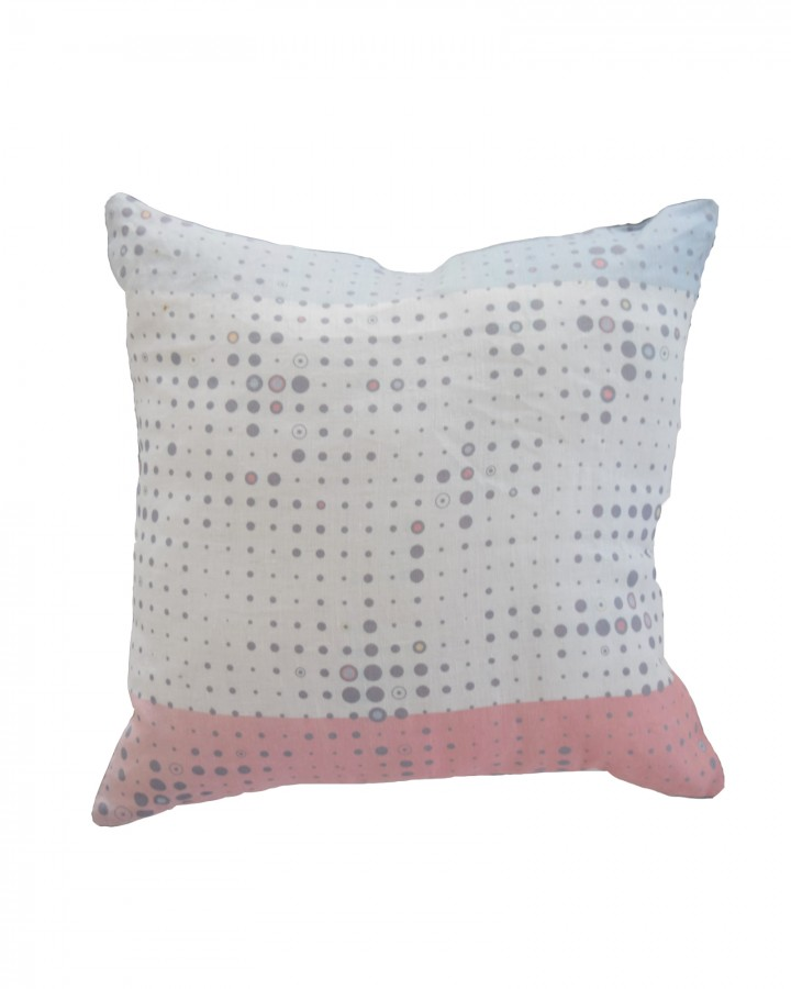 Morse Linen Cushion Deep Etched