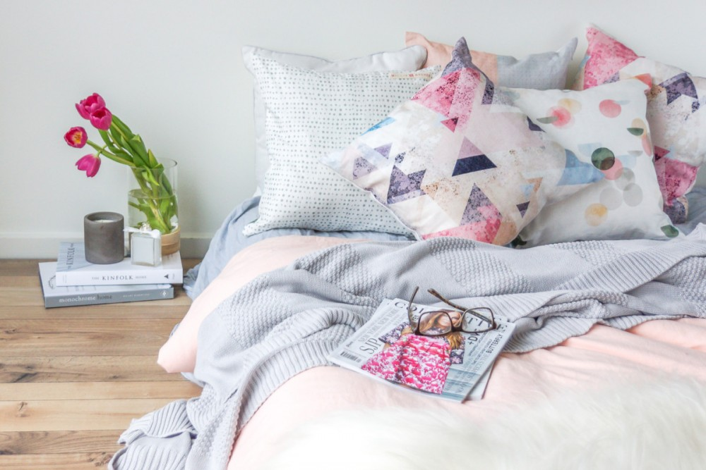 Triangle linen cushion millie archer online homewares