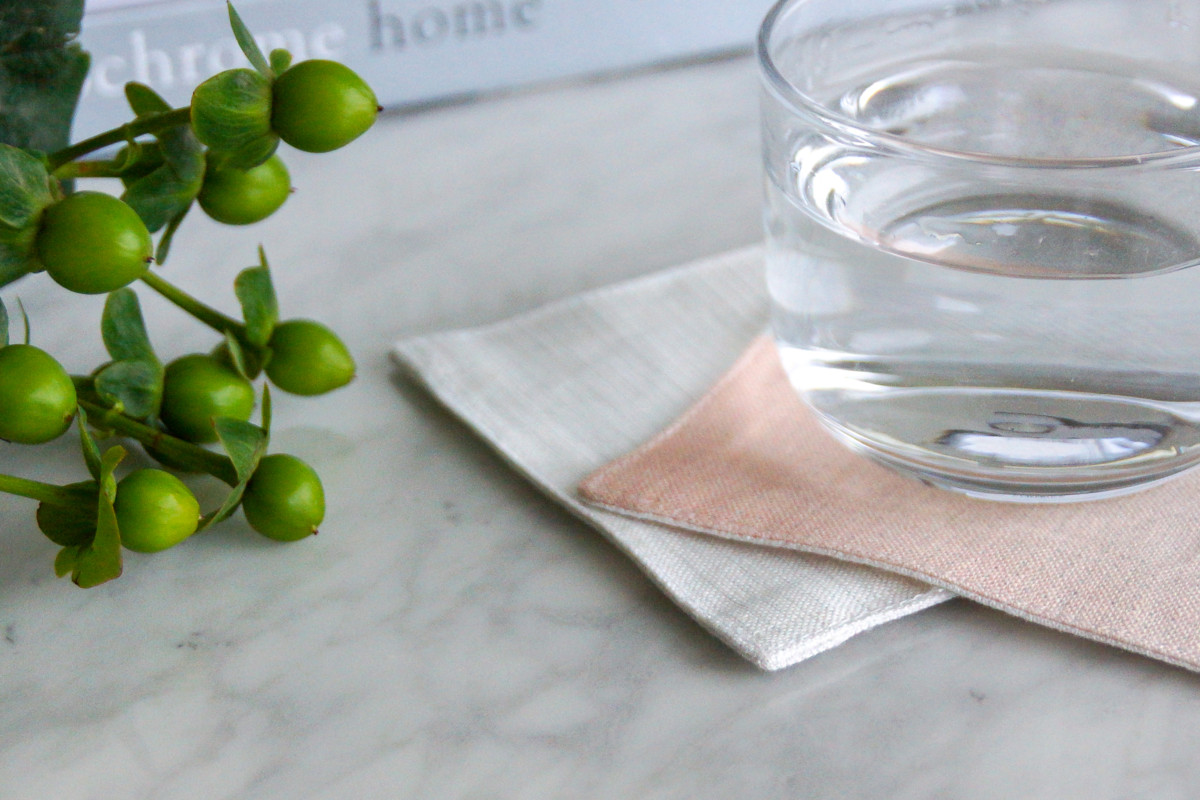 Half Way Linen Coaster Millie Archer Online Homewares