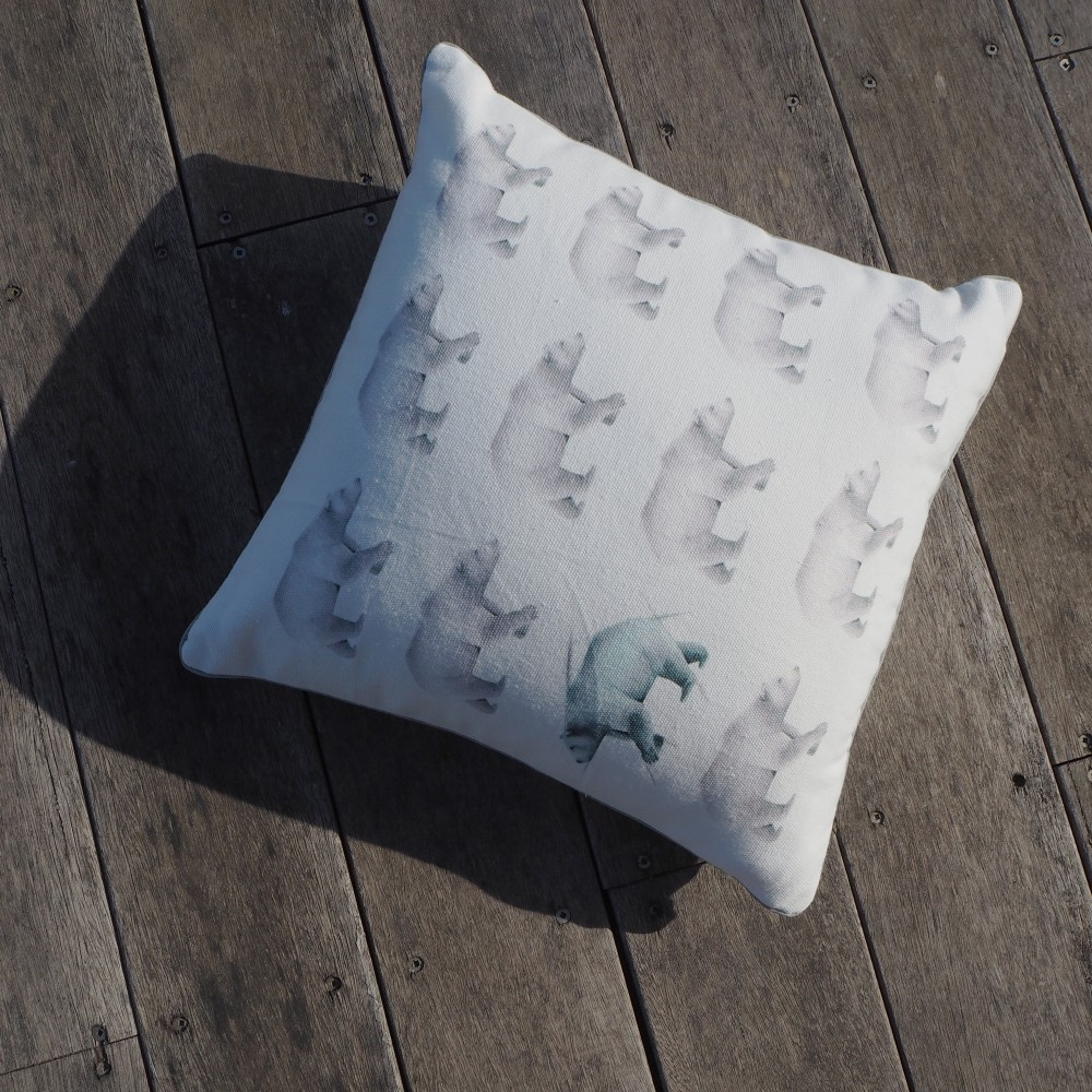 Millie Archer Multi Bear Cushion on Deck