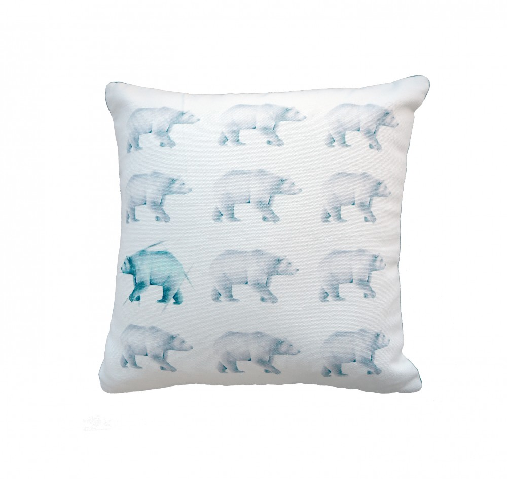 Millie Archer Multi Bear Cushion Deep Etched
