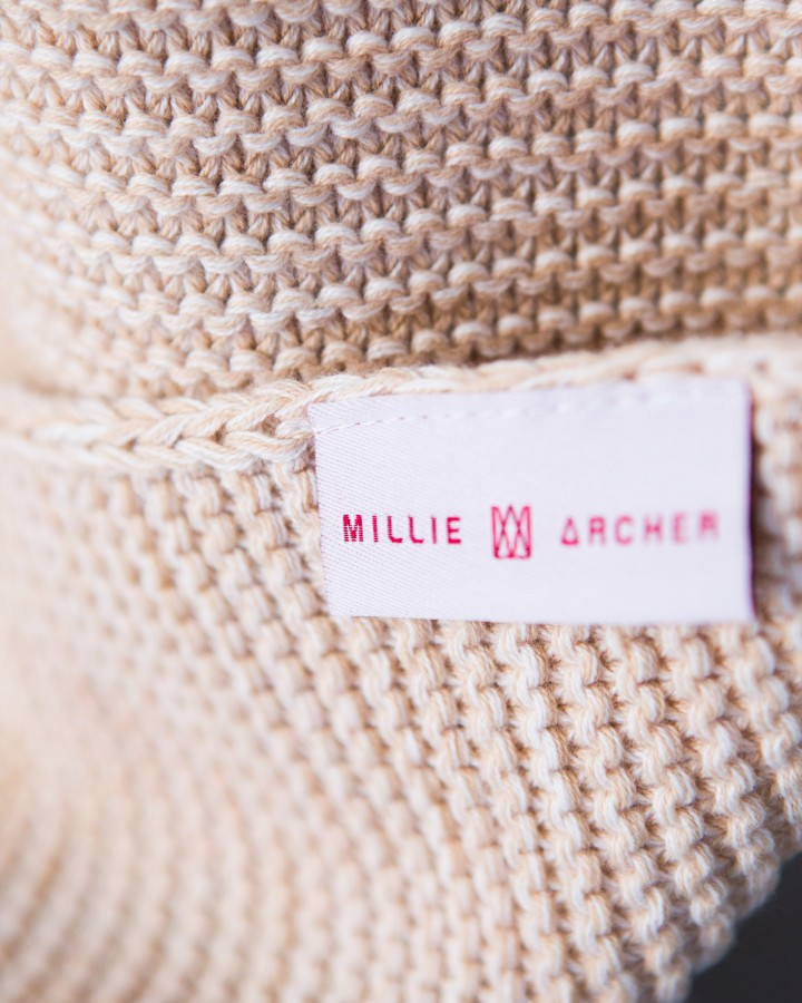 Oatmeal Cotton Throw by Millie Archer